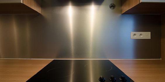 Film adhésif effet aluminium brossé - INDUS-2700. Luminis-Films