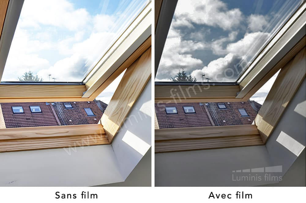 Film repositionnable solaire gris. Luminis-Films
