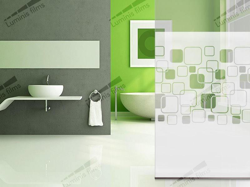 Film blanc à carrés avec angles arrondis - INT 468. Luminis-Films