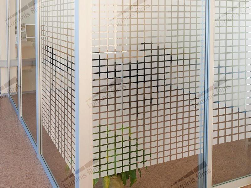 Film décoratif à carrés dépolis - INT 450. Luminis-Films