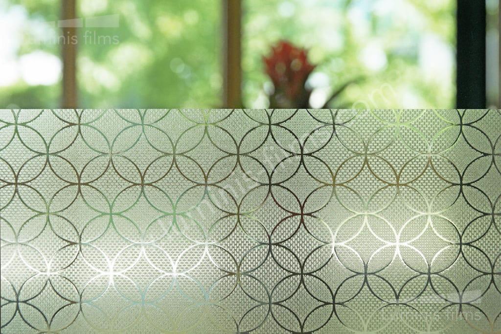 Film statique motifs mousseline. Luminis-Films