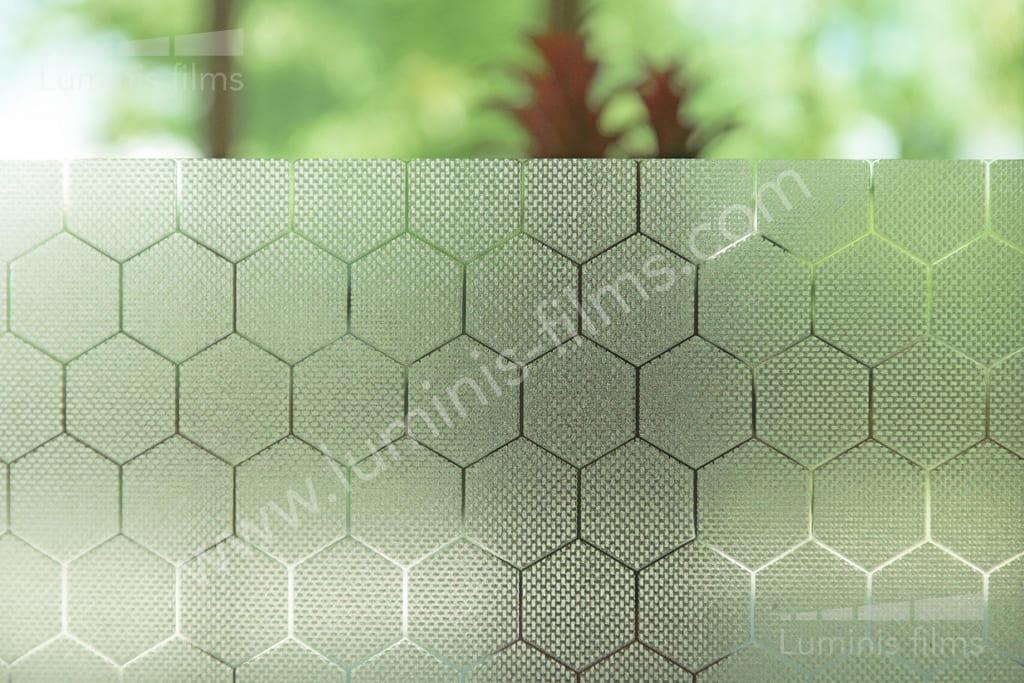 Film statique à hexagones. Luminis-Films