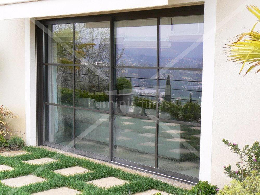 film de protection solaire semi m tallis argent clair glass 202x luminis films. Black Bedroom Furniture Sets. Home Design Ideas