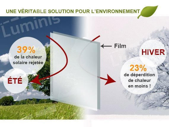 Film isolant anti froid clair. Luminis Films