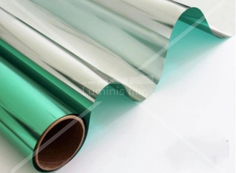 le film effet miroir vert transforme votre vitrage en verre r flechissant luminis films. Black Bedroom Furniture Sets. Home Design Ideas
