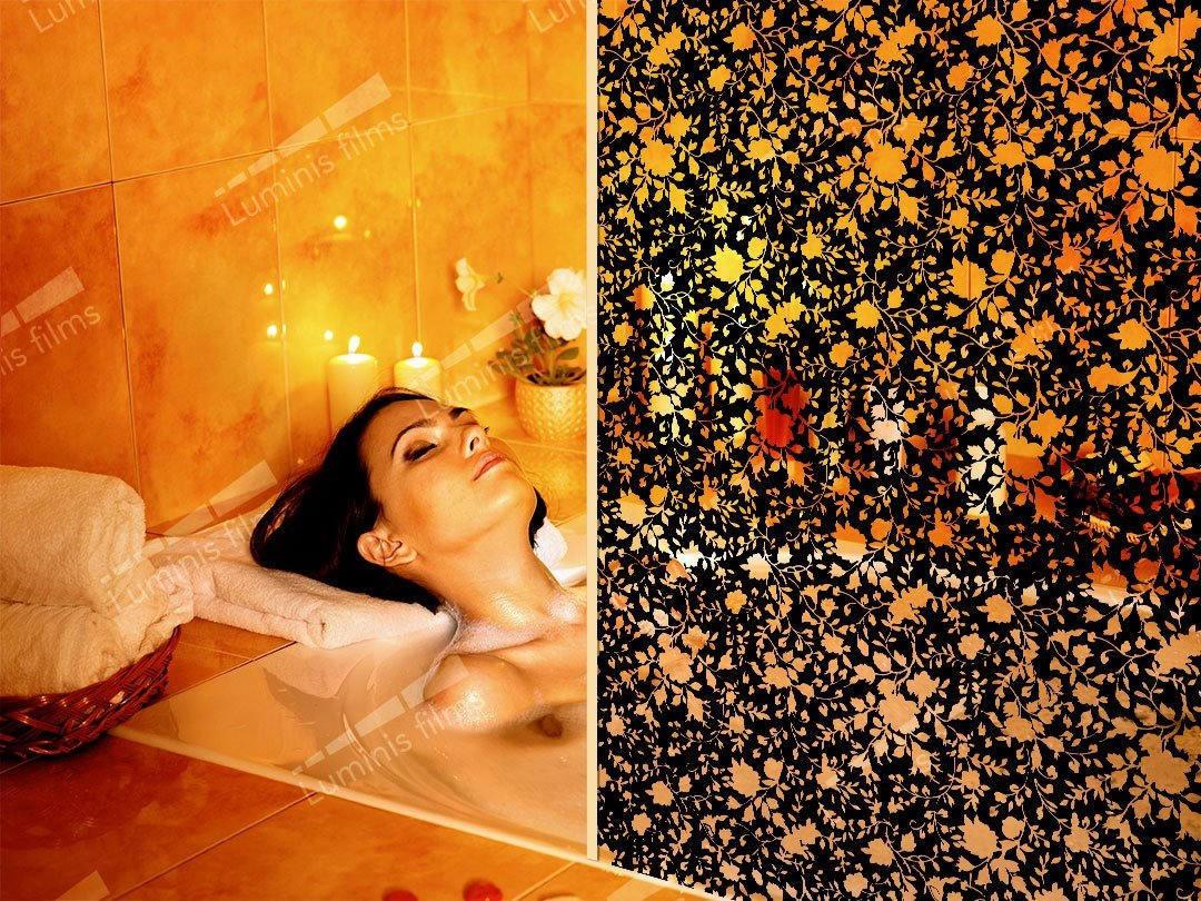 Film décoratif à motifs floral noir - DECO-527i. Luminis-Films