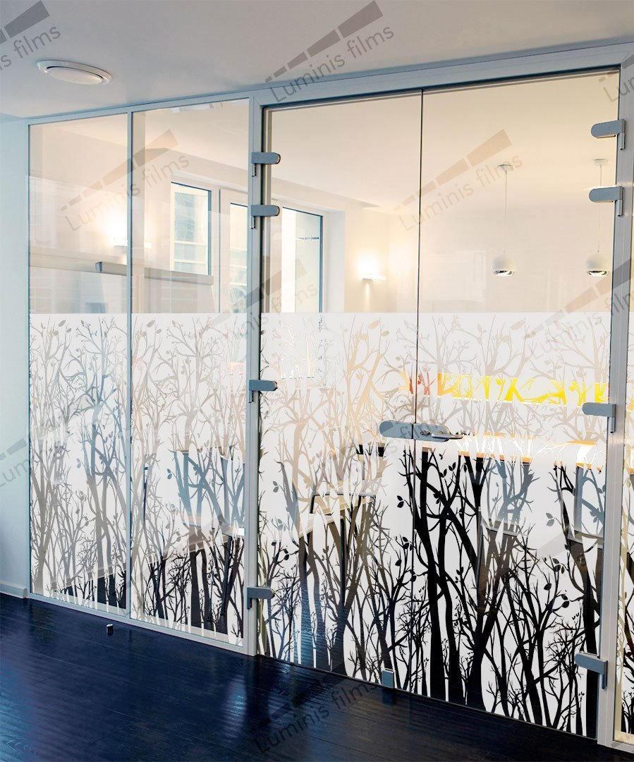 Film décoratif dépoli à arbres - DECO-518i. Luminis-Films