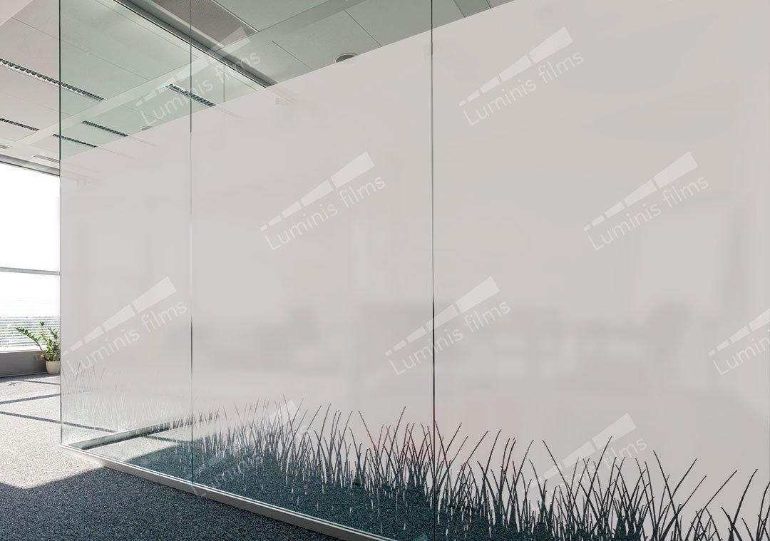 Film décoratif dépoli à herbes - DECO-531i. Luminis-Films