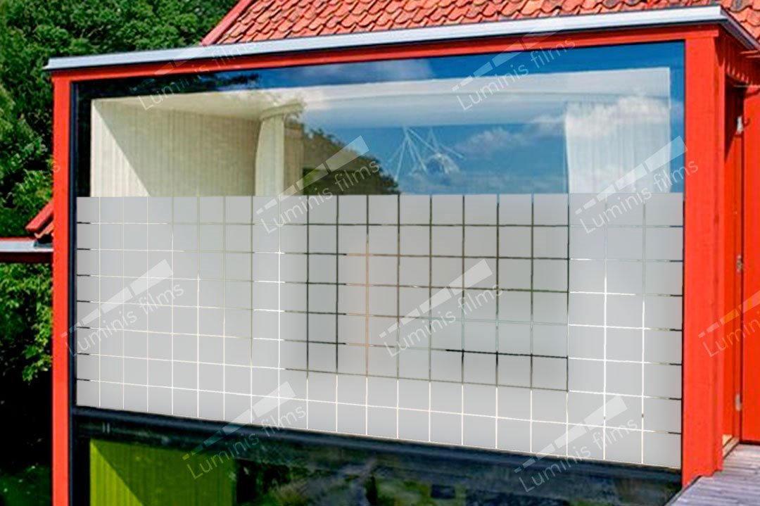 Film décoratif à larges carrés dépolis - DECO-534i. Luminis-Films