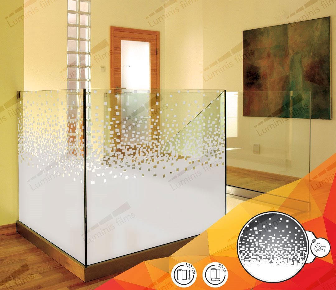 Film décoratif dépoli à pixels dégressifs - DECO-535i. Luminis-Films