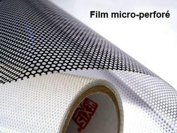 Film micro perfor 40 60 noir blanc perf 350x luminis films - Film electrostatique pour vitrage ...