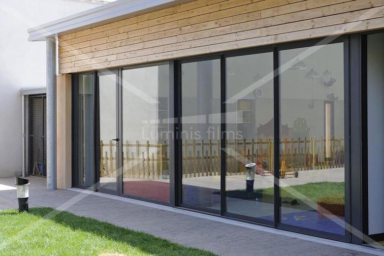 film anti chaleur semi m tallis argent clair glass 102i luminis films. Black Bedroom Furniture Sets. Home Design Ideas