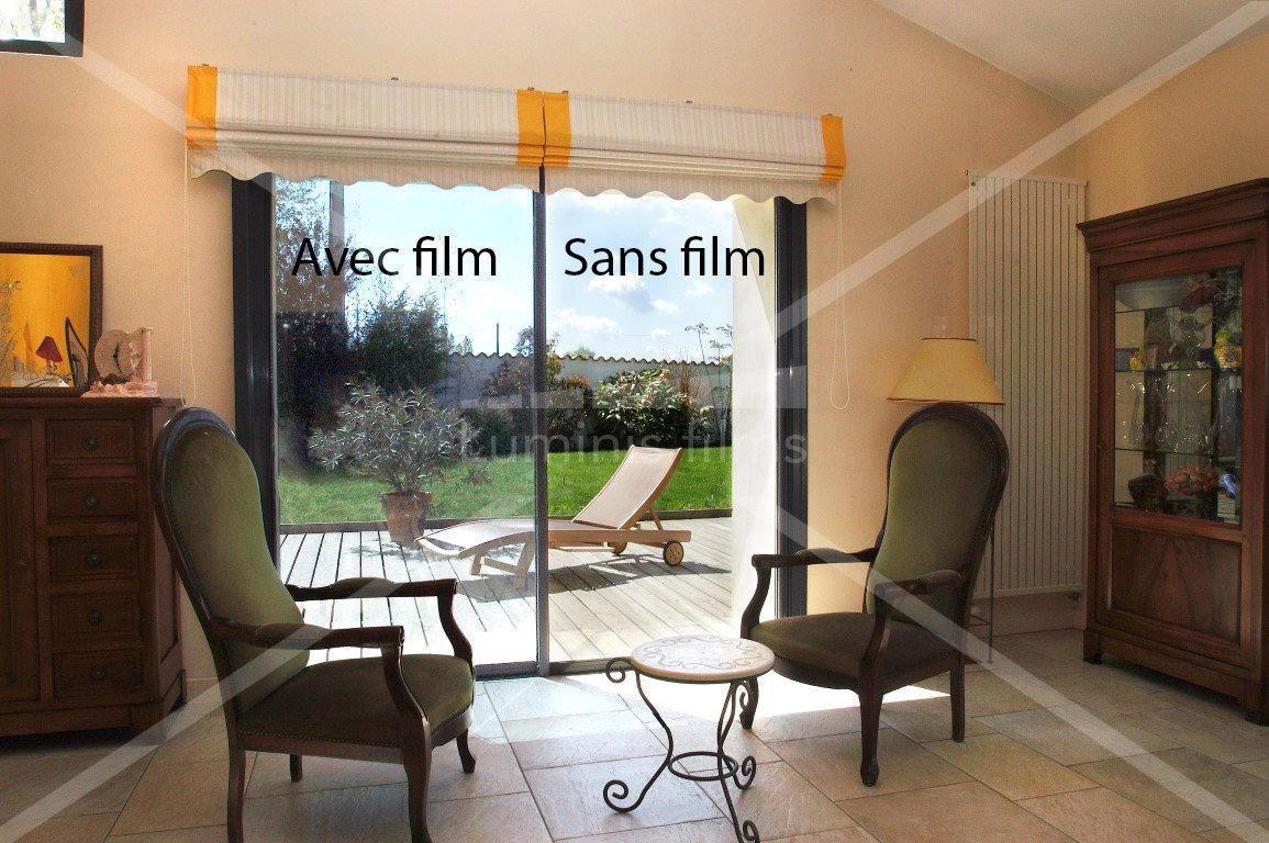 Film anti chaleur semi-métallisé argent clair - GLASS-102i. Luminis-Films