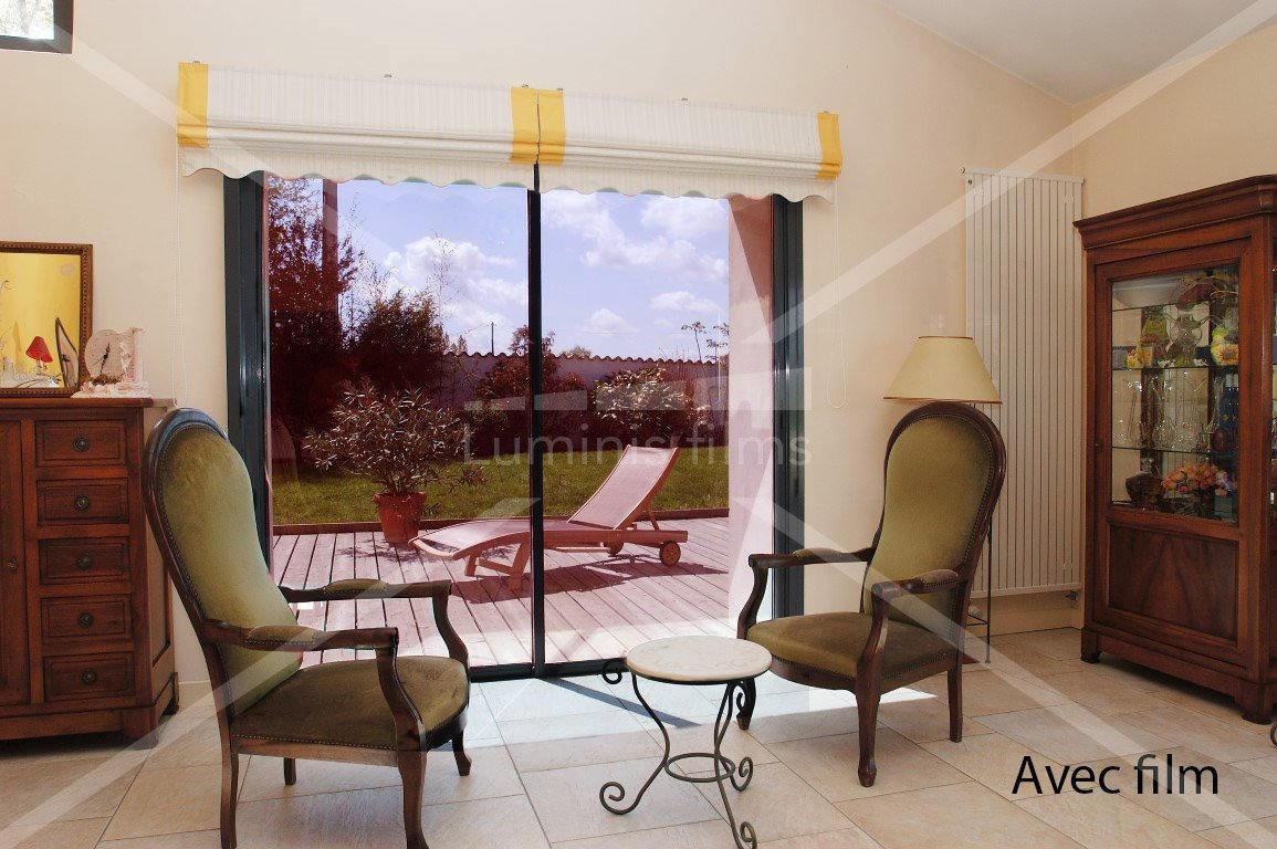 ce film anti chaleur rouge prot ge du soleil et colore vos vitrages luminis films. Black Bedroom Furniture Sets. Home Design Ideas