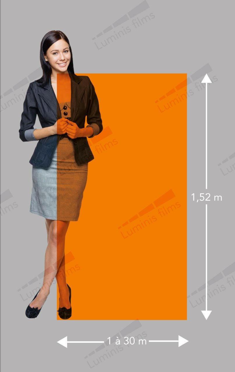 Film couleur transparent orange - COLOR-409i. Luminis-Films