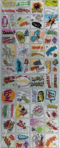Film sticker fond inox COMIC. Luminis-Films