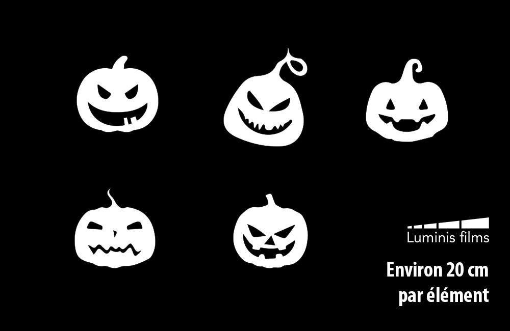 Stickers citrouilles halloween pour vitre. Luminis-Films