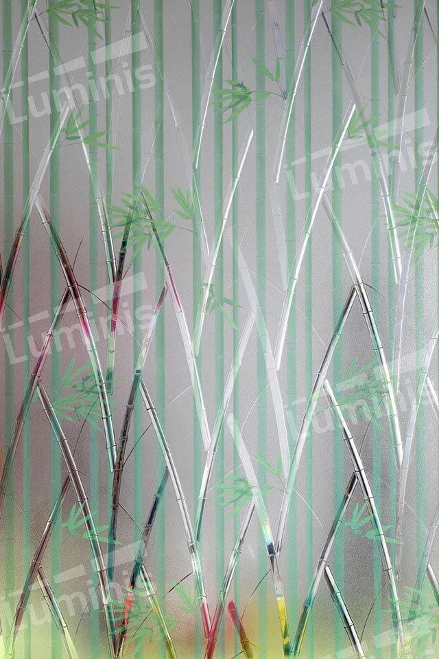 Film électrostatique à motif bambou. Luminis-Films