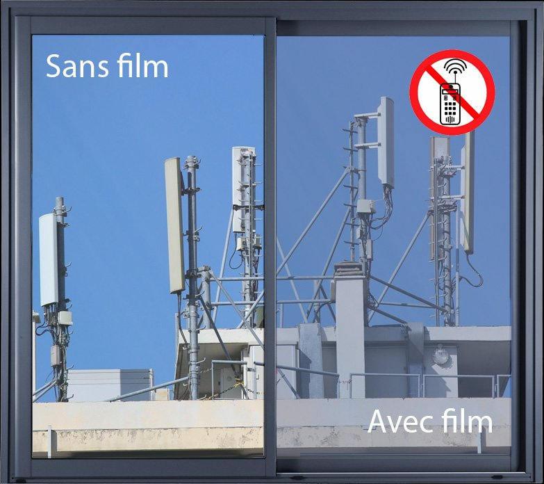 Film anti onde argent clair pour vitrage. Luminis-Films