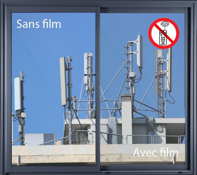 Film anti ondes ultra clair pour vitre. Luminis-Films