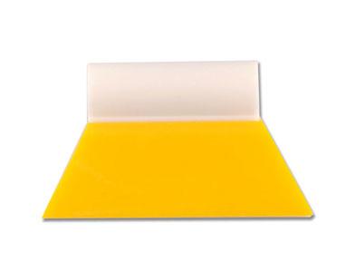 Raclette Jaune Teflon avec poignée blanche : Yellow Turbo (8.5cm). Variance-auto