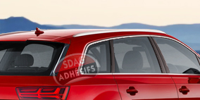 kit 3/4 arrière fumé extrême clair 85 Seat Ibiza (3) 3 portes (2002 - 2008). SDAG
