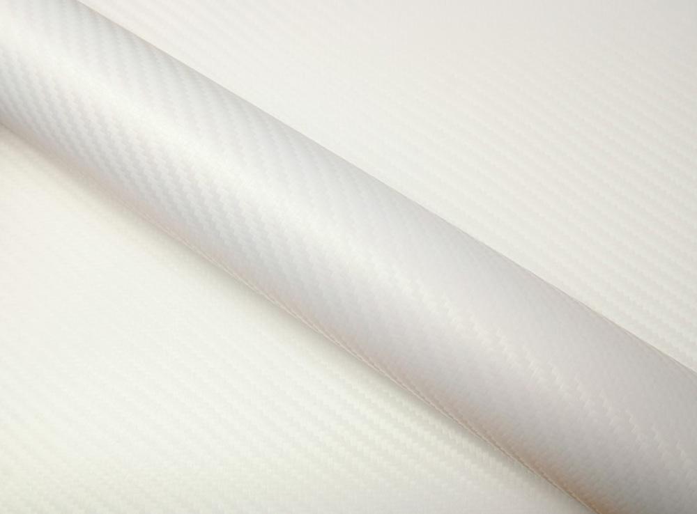 Film covering carbone blanc nacré 3D. Variance Auto