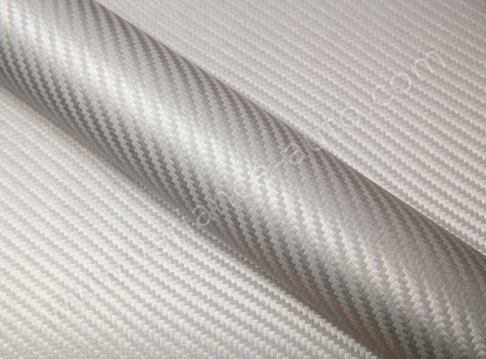 Film covering carbone argent 3D - CARBON-4902a