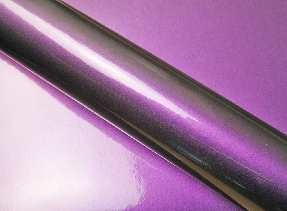 Film covering caméléon violet/bleu nuit 3D. Variance Auto