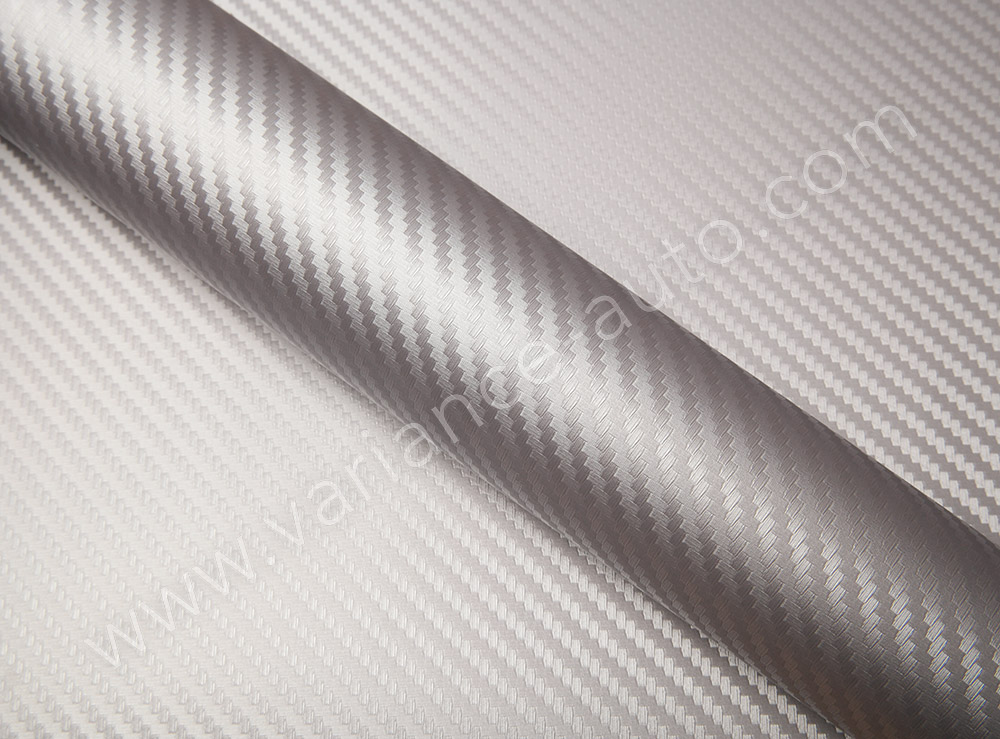 Film covering carbone argent 2D - CARBON-4802