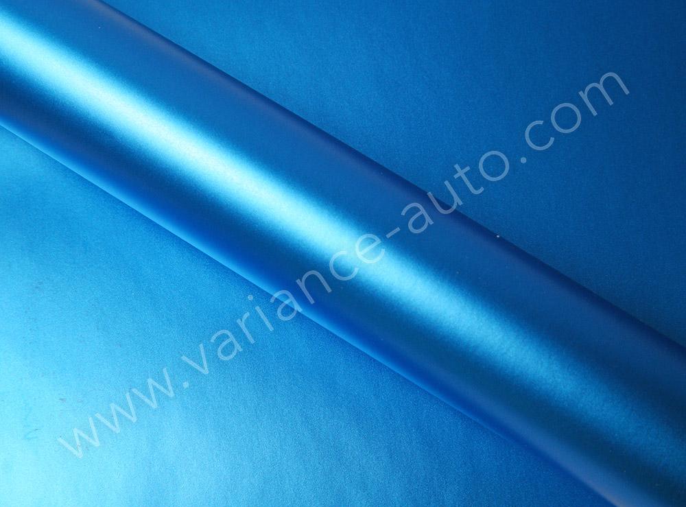 Vinyl covering bleu mat métallisé - MAT-4155a