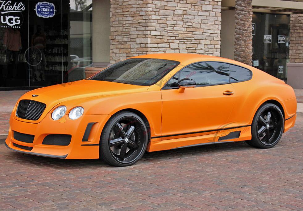 Film covering orange mat 3D. Variance Auto