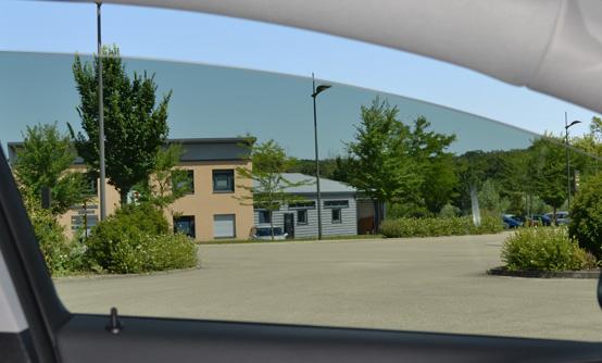 Film teinté fumé clair 35 : vue intérieure. Variance Auto
