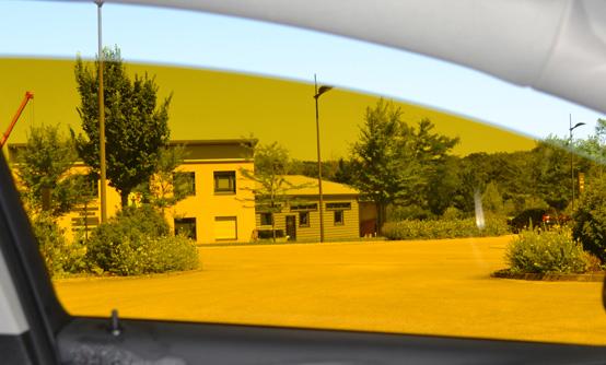 Film teinté tuning orange : vue intérieure. Variance Auto