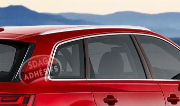 kit 3/4 arrière fumé ultra clair 50 Seat Ibiza (3) 3 portes (2002 - 2008). SDAG