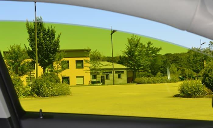 Film automobile tuning jaune citron. SDAG ADHÉSIFS
