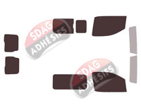 Kit complet Peugeot Expert (3) Standard / Long Utilitaire 5/6 portes (depuis 2016) SDAG ADHÉSIFS