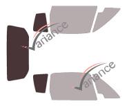 Gabarit vitrage - kit 3/4 arrière - Grecav Sonique 3 portes (depuis 2010)