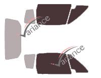 Gabarit vitrage - kit vitres avant - Grecav Sonique 3 portes (depuis 2010)